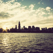 Winter sun setting over the skyline of Chicago — Stock Photo #9198416
