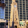 Clock Tower on the beach — Stockfoto