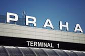 Terminal 1 - international airport in Prague — Stock Photo