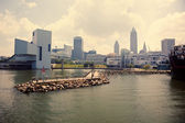 Cleveland from Lake Erie — Stock Photo