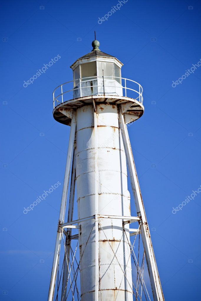 Boca Grande Entrance Rear Range Lighthouse in Florida  Stock Photo #9198395