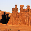 The Three Gossips at Arches National Park — Stock Photo