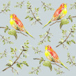 Seamless background. Illustration of birds. — 图库矢量图片
