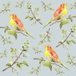Seamless background. Illustration of birds. — Stok Vektör