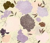 Seamless background from a flowers ornament, fashionable modern wallpaper or textile. Illustration peony. — Stok Vektör