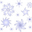 Seamless background with beautiful snowflakes. - Stok Vektör