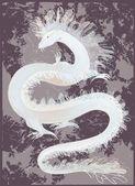 Großen drachen farbe. abbildung des chinesischen drachen. — Stockvektor
