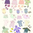 Set of children's clothes. — Stock Vector