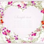 装飾的な心。手描きのバレンタインの日グリーティング カード — ストックベクタ
