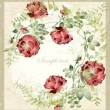 Greeting card with rose. Illustration  roses. - Stok Vektör