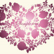 Decorative heart. Hand drawn valentines day greeting card. Illustration ros - Stok Vektör