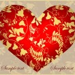 Decorative heart. Hand drawn valentines day greeting card. Illustration lac — 图库矢量图片