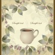 Vector elegant coffee themed background illustration . Illustration of coffee tree.Menu. — Stok Vektör #9417357