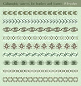 Calligraphic patterns — Stock Vector
