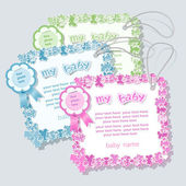 Label for baby shower — Stock Vector