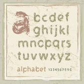 English alphabet — Stock Vector