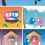 Birds in Love — Stock Vector