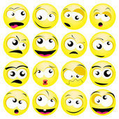 Smileys — Vector de stock
