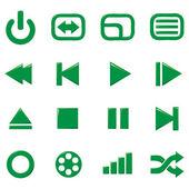 Mediální ikony — Stock vektor