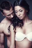 Joven pareja sexual — Foto de Stock