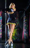 Pole dancing — Stock Photo