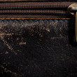 Stock Photo: Horizontal leather background and fastener