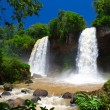 Tropical two waterfall. — Stock Photo