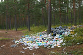 Rubbish in the forest. — Stock Photo