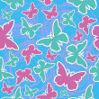 Royalty-Free Stock Vector Image: Butterfly seamless vector background