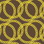 Golden chain seamless vector — Stock Vector
