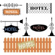 Wrought iron vintage signs and decor elements — Stock Vector #9682814