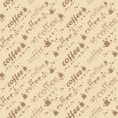 Vector coffee seamless backgroud — Stock Vector