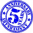 Grunge 5 years anniversary rubber stamp, vector illustration - Image vectorielle