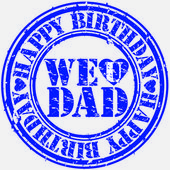 Grunge happy birthday dad, vector illustration — Stock Vector