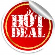 Royalty-Free Stock Vector Image: Hot deal sticker, vector illustration