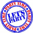Royalty-Free Stock Vector Image: Grunge let's party rubber stamp, vector illustration