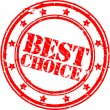 Best choice rubber stamp, vector illustration - Image vectorielle
