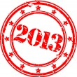 Grunge 2013 Happy New Year rubber stamp, vecto illustration - Векторная иллюстрация