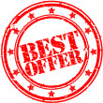 Grunge best offer rubber stamp, vector illustration — Stock Vector #9201507