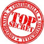 Grunge top secret rubber stamp, vector illustration — Stock Vector #9201547