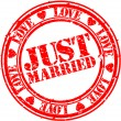 Royalty-Free Stock Vector Image: Grunge Just married rubber stamp, vector illustration