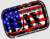 Grunge the 4th of july Independence Day in USA rubber stamp, vector illustr — Stok Vektör
