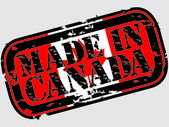 Grunge made in Canada rubber stamp, vector illustration — Stock Vector