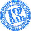 Grunge Happy father's day rubber stamp, vector illustration — Stock Vector