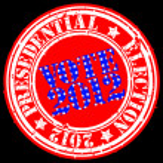 Grunge presedential election 2012 rubber stamp, vector illustration — Stock Vector
