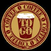 グランジ ベクトル イラスト コーヒー カップ スタンプを移動するには — ストックベクタ