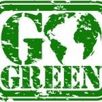 Grunge ir sello verde, vector illustration — Vector de stock  #9813519