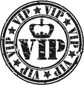 Grunge vip rubber stamp, vector illustration — Vecteur