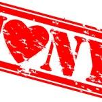 Grunge I love new york rubber stamp, vector — Stock Vector