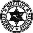 Grunge sheriff star, vector illustration - Stock Vector